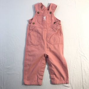 Browning Kids/Youth Pink Overalls Size 9 Month